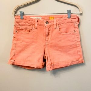 Anthropologie Pilcro Coral Shorts 27